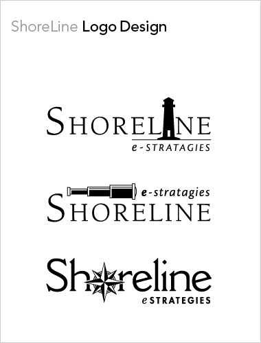 Shoreline e Strategies Logo Design
